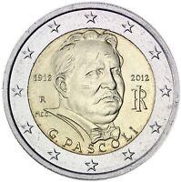 Italien 2 Euro Gedenkmünze 2012 Giovanni Pascoli prägefrisch