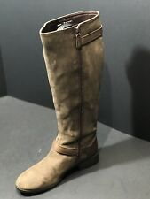 Cole Haan Marla Boot WP Round Toe Suede  Knee High Women Dark Taupe Boot Size 8B