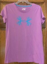 Under Armour Women's Purple/Blue Antler Top Shirt L Large