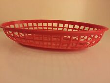 36 Classic Oval Food Baskets In Red Chicken burger Hot Dog Hotdog New