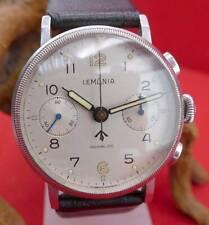 Original Lemania Incabloc Herren Chronograph in Edelstahl Sammler Vintage