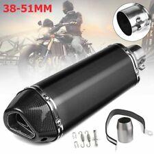 400mm Long Black Universal Motorcycle Dirt Bike ATV Exhaust Muffler Pipe 38-51mm