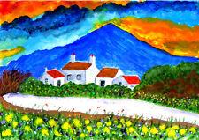 Scotland, Isle of Skye, Crofts au coucher du soleil par Fred Segal