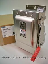 Siemens Stainless HNF361S 30a 600v Non-Fused Safety Switch 9 Available New