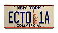 Ghostbusters 2 | '59 Cadillac Hearse | ECTO-1A | STAMPED Prop License Plate
