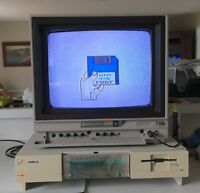 Commodore Amiga 1000 with 256K RAM expansion (no Keyboard or Mouse) - WORKS
