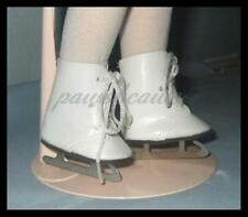 """White 2"""" x 15/16"""" Doll ICE SKATES Shoes fit 14"""" TONI Besty McCall  U.SSHIPS FREE"""