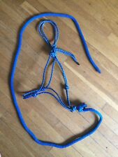 rope halter with lead.