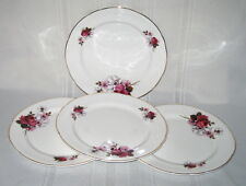 HONEY BUNCH (Roses) - Royal Stafford England - Set of 4 - Sandwich Plates
