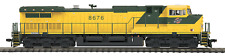 MTH 80-2296-1 HO  2Rail DC Dash-9 Diesel Engine w/Proto-Sound 3.0