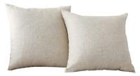 2 Pack Burlap Decorative Pillow Covers Lined Linen Cushion Home Brilliant