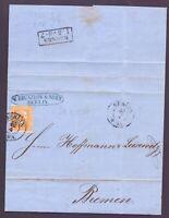 Preusen 1860 - Schöne Einzelfrankatur aus Berlin nach Bremen mit 3 Sgr. (732)