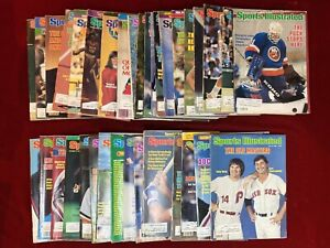 1982, 1983, 1984, 1985 Lot of 35 SPORTS ILLUSTRATED Magazines