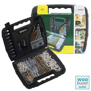 Bosch 200pcs Drill Set Mixed Titanium Set Plugs Kit Screw Set Bit Kit