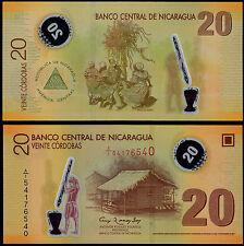 NICARAGUA 20 CORDOBAS (P202b) N. D. (2012) POLYMER UNC