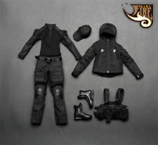 "Fire Girl Female 1/6 Black Women Dark Gunners Combat Clothes Set For 12"" Figure"