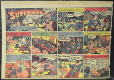 SUPERMAN SUNDAY COMIC STRIP #18 Mar 3, 1940 2/3 FULL Page DC Comics RARE