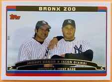 2006 Topps BRONX ZOO - JOHNNY DAMON / JASON GIAMBI New York Yankees #646