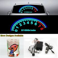 Speedometer Music Rhythm Car Sticker Flash Light Sound Activated Equalizer 80*30