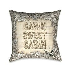 Laural Home Cabin Sweet Cabin Indoor Decorative Pillow