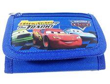 Disney Cars Mc Queen Children boy's Tri Fold Wallet Color Blue