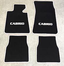 Autoteppiche Fußmatten für BMW E30 / 3er Cabrio schwarz-weiss Neuware 4teilig