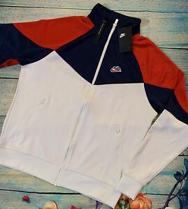 Nike Men's Sportswear Colorblocked Windrunner Jacket White Size  SMALL