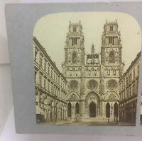 Basilique Cathédrale Sainte-Croix d'Orléans Orleans Cathedral France Stereoview