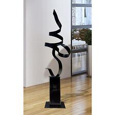Large Black Metal Modern Abstract Indoor Outdoor Yard Sculpture by Jon Allen