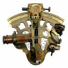 Nautical Brass KELVIN & HUGHES Sextaant HANDMADE Vintage Beautiful SEXTANT DECOR