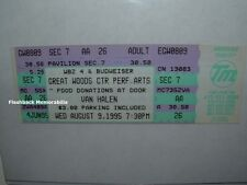 Van Halen Unused 1995 Concert Ticket Great Woods Ma P.A.C. Very Rare Sammy Hagar