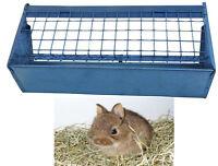 Mangiatoia per fieno in lamiera zincata per gabbia conigli portafieno cm 40