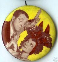 CARMEN MIRANDA vintage pin Tutti fruity pinback