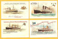 Postcard set - STEAMSHIPS AT SEA - Superb Set