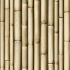 NEW LUXURY MURIVA BLUFF BAMBOO BROWN PANEL FAUX WOOD EFFECT 10M WALLPAPER J22317