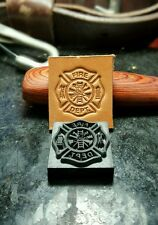 FD Fire Department / firefighter Maltese Cross leather embossing stamp