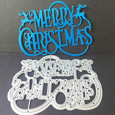 Merry Christmas Carbon Stencil Embossing Plate Cutting DIY Scrapbooking Cards G