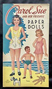 Old & Original CAROL SUE & Her FRIENDS Paper Doll Book, 1948, Uncut