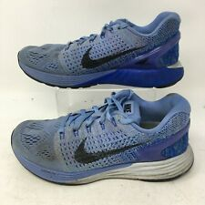 Nike Lunarglide 7 747356-404 Blue Mesh Athletic Running Shoes Lace Up Womens 6.5