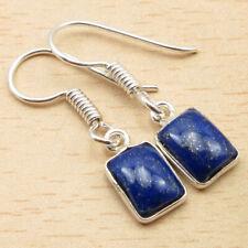 "Silver Plated Jewelry Wholesale Price Fabulous Lapis Lazuli Bijoux Earrings 1.2"""