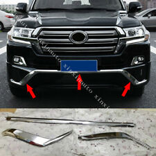 ABS Chromed Front Bumper Lip Molding Strips For Toyota Land Cruiser LC200 16-20