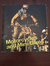 1974 Motorcycles and Mini-Bikes by Larry Bortstein Illustrated