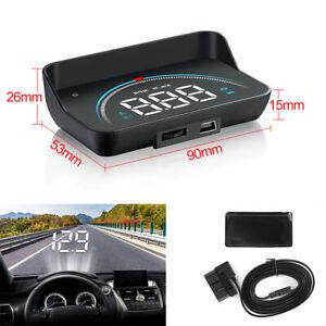 Car Interior Dash Digital HUD Speedometer Head Up Display With Alarm Function