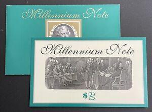 1995 $2 Atlanta Millennium Star Note Bureau Engraving Printing (CON-112)
