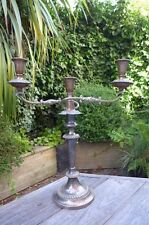 Antique metal candlestick holder with copper holder beautiful details