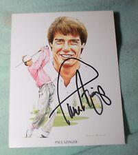 Paul Azinger Autographed Golfer Sports Card  & COA Global Authentication