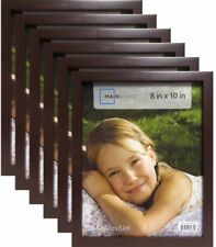 8x10 Brown Linear Picture Frame 12PC Set Lot Photo Family Home Wall Decor Wood