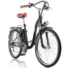Bicicleta electrica VINTAGE 36V 250W rueda 26'' cambio Shimano Negra –FitFiu