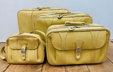Vintage American Tourister 1975 HARVEST GOLD Set of 4 Nesting Suitcases -Rolling