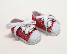 """Pink Sequin Sneakers Sized for Wellie Wisher 14.5"""" Dolls American Girl"""